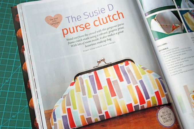 Purse Frame Clutch by Susan Dunlop for Love Sewing magazine