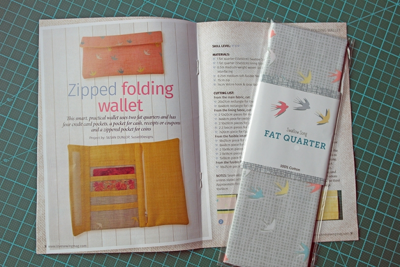Fat quarter wallet pattern by Susan Dunlop Love Sewing magazine