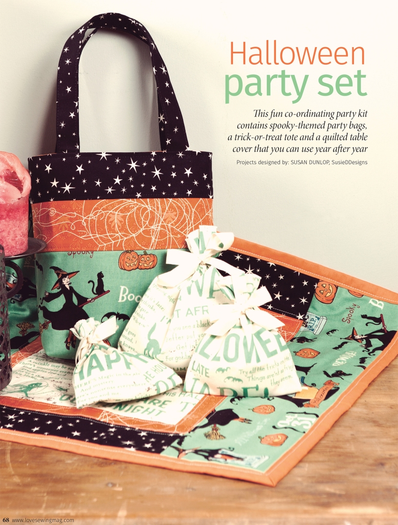 Halloween Party Set by Susan Dunlop in Love Sewing Magazine
