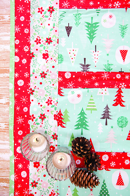 Christmas Table Topper by Susan Dunlop for Love Sewing magazine