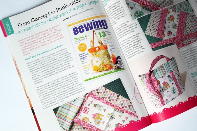 Article in Sewing World magazine - how to be a project contributor