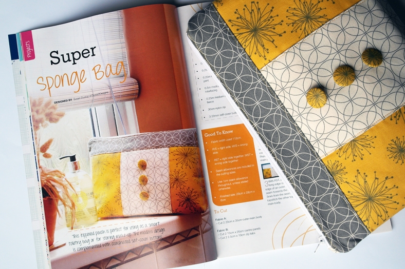Zippered Pouch by Susan Dunlop in Sewing World Magazine