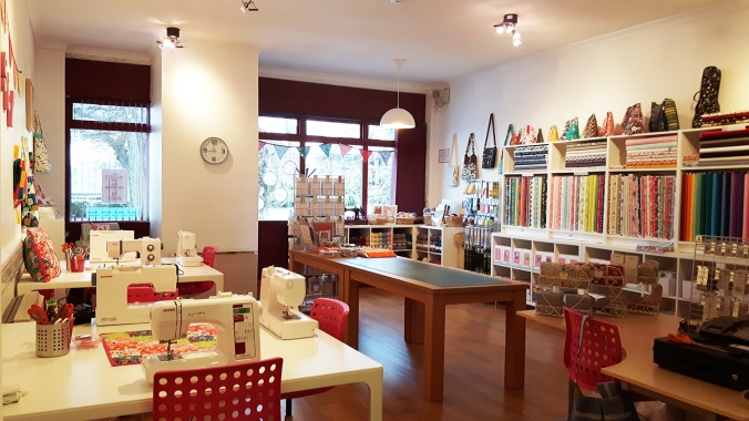 Space to Sew and Craft - Shop and sewing workspace